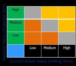 Current and Potential Value matrix